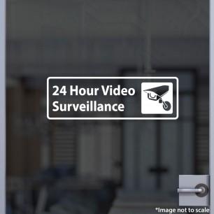 24-Hr Video Surveillance Decal