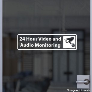 24-Hr Video and Audio Monitoring Decal