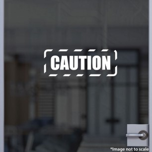 Caution Decal