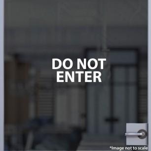 Do Not Enter Decal