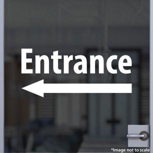 Entrance (Left Arrow) Decal