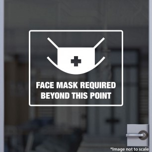 Face Masks Required Ver.1 Decal