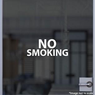 No Smoking Decal Style 1