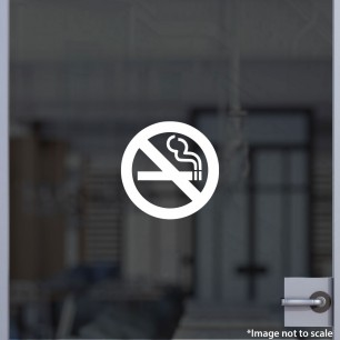 No Smoking Decal Style 4