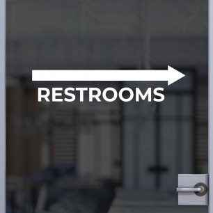 Restrooms (Right Arrow) Decal