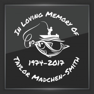 In Memory of Decal - Vehicle 10