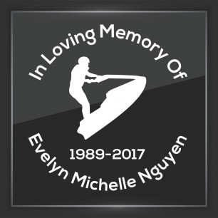 In Memory of Decal - Vehicle 11