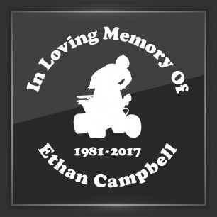 In Memory of Decal - Vehicle 12
