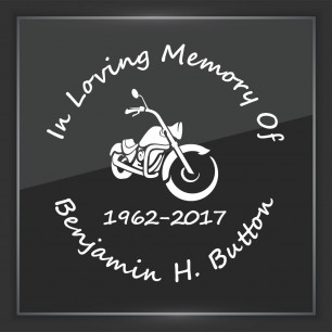 In Memory of Decal - Vehicle