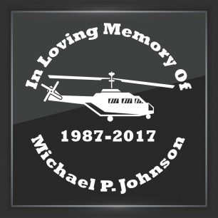 In Memory of Decal - Vehicle 5