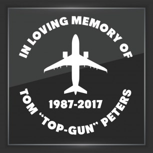 In Memory of Decal - Vehicle 6
