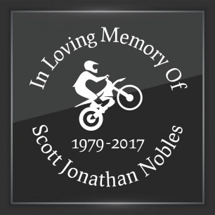 In Memory of Decal - Vehicle 8