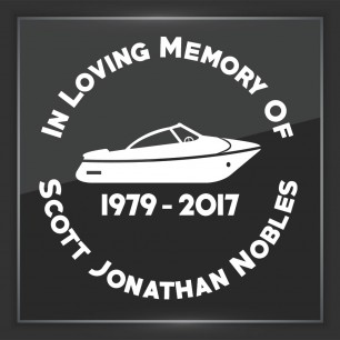 In Memory of Decal - Vehicle 9