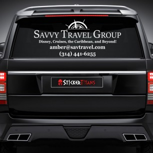 Rear Glass  Decal with Single Color Logo