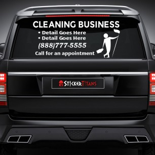 Cleaning Style 07 Rear Glass Decal