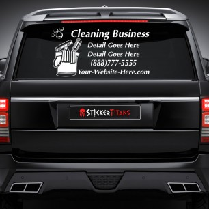 Cleaning Style 08 Rear Glass Decal