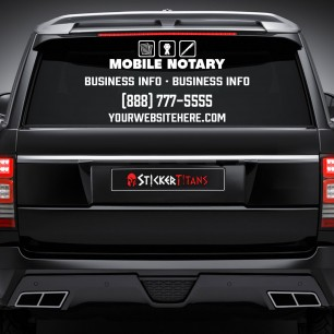 Notary Style 01 Rear Glass Decal