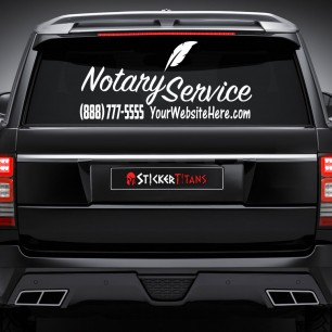 Notary Style 12 Rear Glass Decal