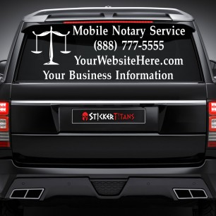 Notary Style 04 Rear Glass Decal