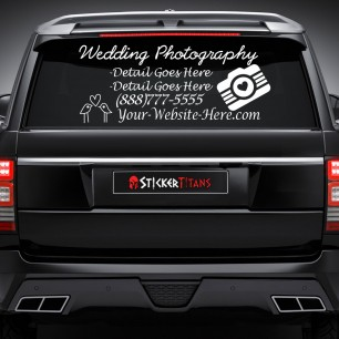 Photography Style 03 Rear Glass Decal