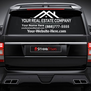 Real Estate Style 01 Rear Glass Decal