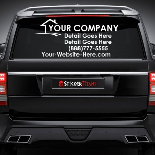 Real Estate Style 02 Rear Glass Decal