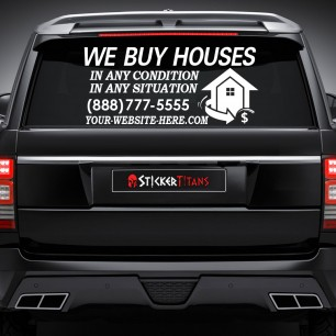 Real Estate Style 04 Rear Glass Decal