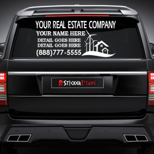 Real Estate Style 05 Rear Glass Decal