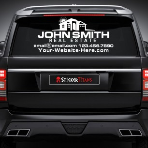 Real Estate Style 06 Rear Glass Decal
