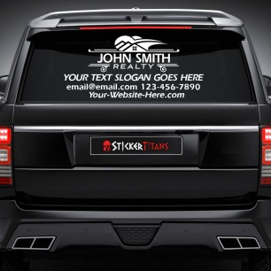 Real Estate Style 07 Rear Glass Decal