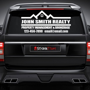 Real Estate Style 08 Rear Glass Decal