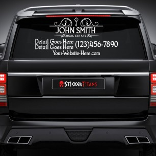 Real Estate Style 09 Rear Glass Decal