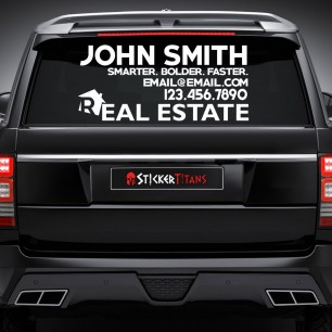 Real Estate Style 10 Rear Glass Decal