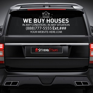 Real Estate Style 12 Rear Glass Decal