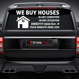 Real Estate Style 13 Rear Glass Decal