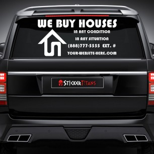 Real Estate Style 14 Rear Glass Decal