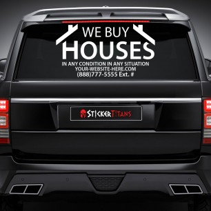 Real Estate Style 15 Rear Glass Decal