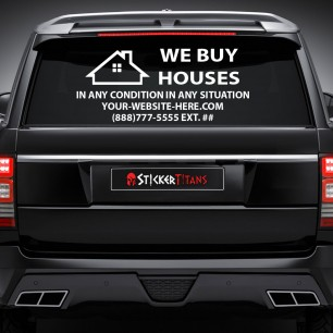 Real Estate Style 16 Rear Glass Decal