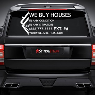Real Estate Style 17 Rear Glass Decal