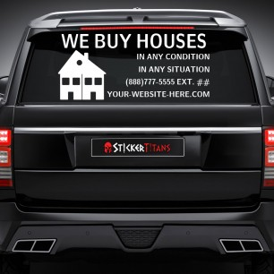 Real Estate Style 18 Rear Glass Decal