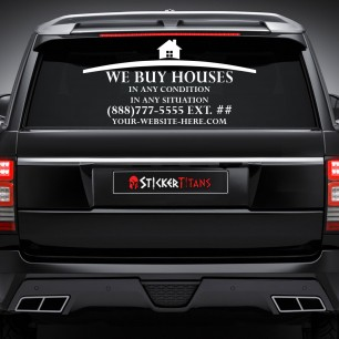 Real Estate Style 19 Rear Glass Decal