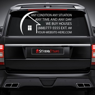 Real Estate Style 20 Rear Glass Decal