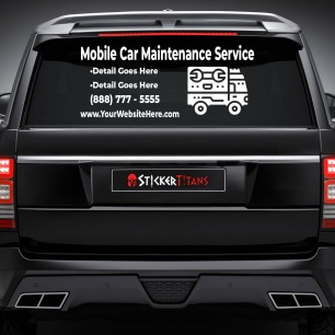 Car Service Style 01 Rear Glass Decal