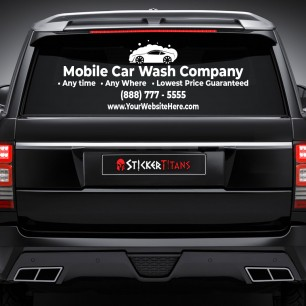 Car Wash Style 01 Rear Glass Decal