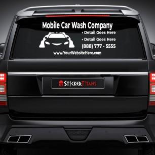 Car Wash Style 02 Rear Glass Decal