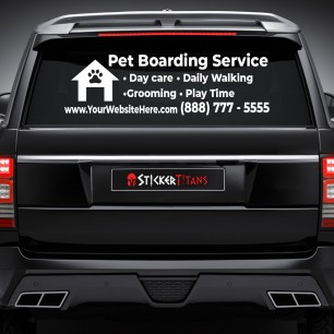 Pets Style 10 Rear Glass Decal