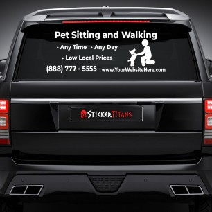 Pets Style 11 Rear Glass Decal