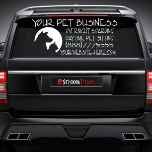 Pets Style 07 Rear Glass Decal