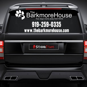Pets Style 08 Rear Glass Decal