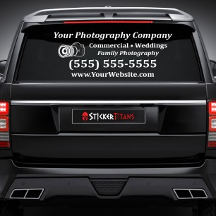 Photography Style 01 Rear Glass Decal
